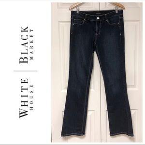 White House Black Market Blanc Noir Bootcut Jeans